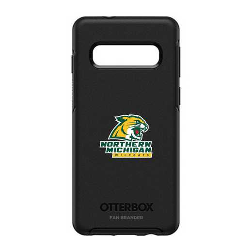 GAL-S10-BK-SYM-NOMU-D101: BL Northern Michigan Univ OtterBox Galaxy S10 Symmetry