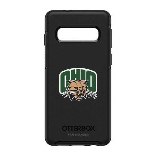 GAL-S10-BK-SYM-OHU-D101: BL Ohio University Bobcats OtterBox Galaxy S10 Symmetry