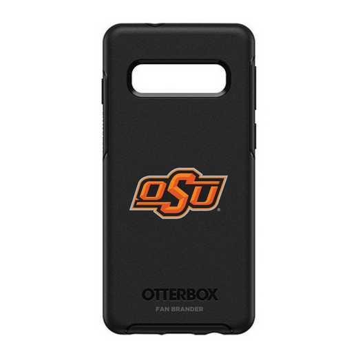 GAL-S10-BK-SYM-OKS-D101: BL Oklahoma State Cowboys OtterBox Galaxy S10 Symmetry