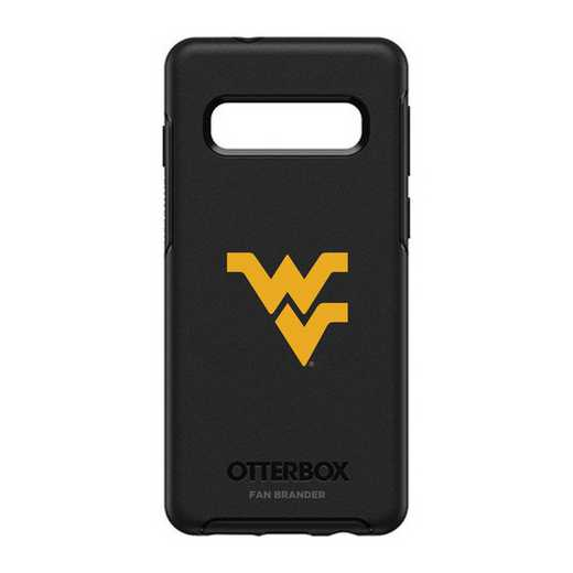GAL-S10-BK-SYM-WV-D101: BL West Virginia Mountaineers OtterBox Galaxy S10 Symmetry