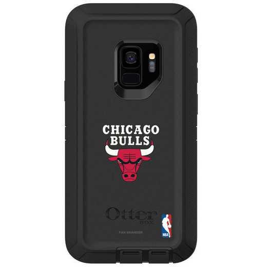 GAL-S9-BK-DEF-CHBL-D101: BL Chicago Bulls OtterBox Galaxy S9 Defender