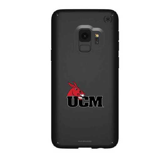 GAL-S9-BK-PRE-CMIZ-D101: FB Central Missouri Mules Speck Galaxy S9 Presidio