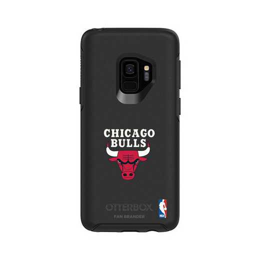 GAL-S9-BK-SYM-CHBL-D101: BL Chicago Bulls OtterBox Galaxy S9 Symmetry