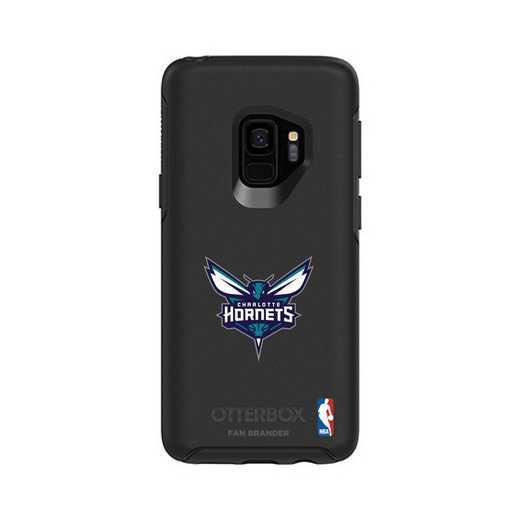 GAL-S9-BK-SYM-CHH-D101: BL Charlotte Hornets OtterBox Galaxy S9 Symmetry
