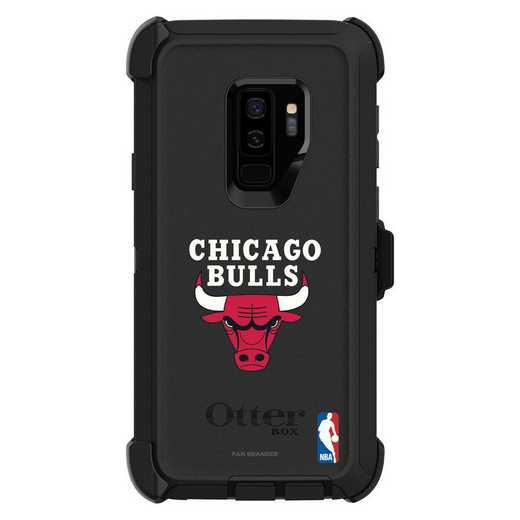 GAL-S9P-BK-DEF-CHBL-D101: BL Chicago Bulls OtterBox Galaxy S9 Defender