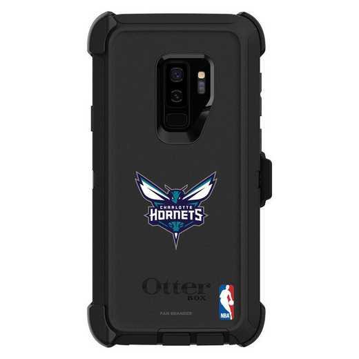 GAL-S9P-BK-DEF-CHH-D101: BL Charlotte Hornets OtterBox Galaxy S9 Defender