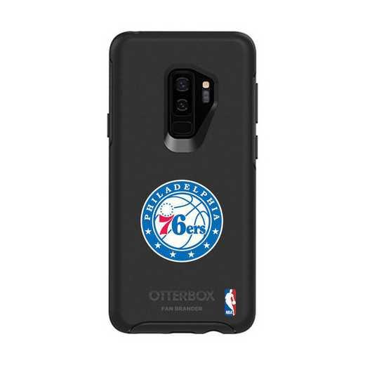 GAL-S9P-BK-SYM-76S-D101: BL Philadelphia 76ers OtterBox Galaxy S9+ Symmetry