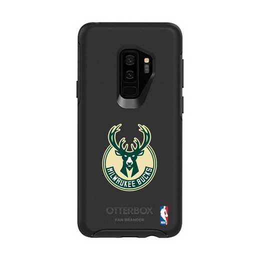GAL-S9P-BK-SYM-MIB-D101: BL Milwaukee Bucks OtterBox Galaxy S9+ Symmetry