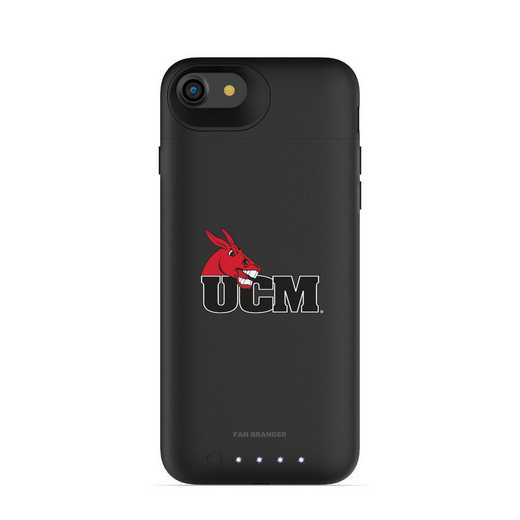 IPH-87-BK-JPA-CMIZ-D101: FB Central Missouri Mules mophie iPhone 8 and iPhone 7