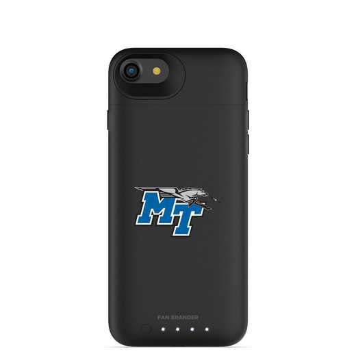 IPH-87-BK-JPA-MTN-D101: FB Middle Tennessee St Blue Raiders mophie iPhone8  iPhone7