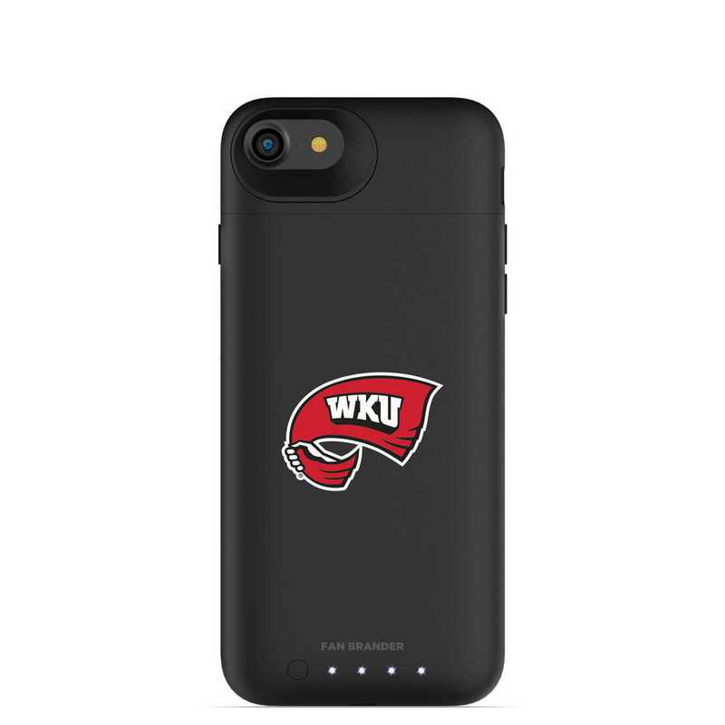 IPH-87-BK-JPA-WKU-D101: FB Western Kentucky Hilltoppers mophie iPhone 8 and iPhone 7