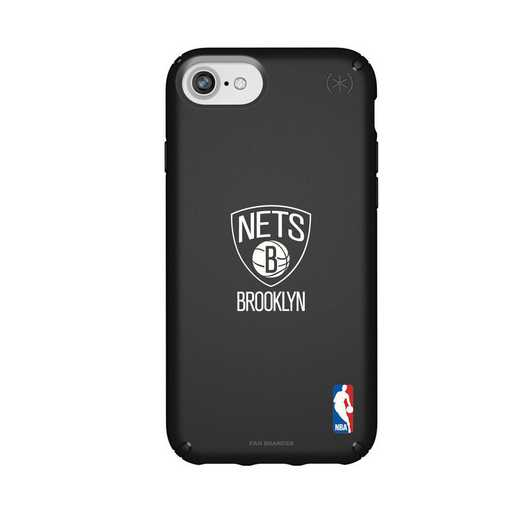 IPH-876-BK-PRE-BRN-D101: BL Speck Presido iPhone 8/7/6- Brooklyn Nets
