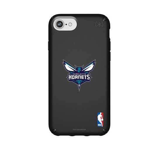 IPH-876-BK-PRE-CHH-D101: BL Speck Presido iPhone 8/7/6- Charlotte Hornets