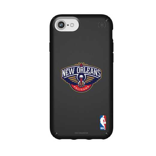 IPH-876-BK-PRE-NOP-D101: BL Speck Presido iPhone 8/7/6- New Orleans Pelicans