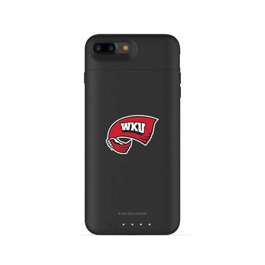 IPH-87P-BK-JPA-WKU-D101: FB Western Kentucky Hilltoppers mophie iPhone 8P & iPhone 7P