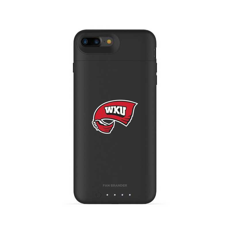 IPH-87P-BK-JPA-WKU-D101: FB Western Kentucky Hilltoppers mophie iPhone 8P & iPhone 7P