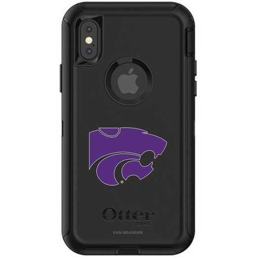 IPH-X-BK-DEF-KST-D101: FB OB iPhone X and XS Kansas State