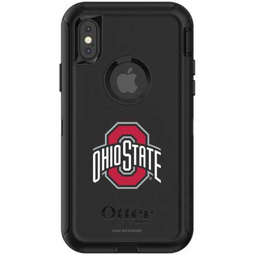 IPH-X-BK-DEF-OHS-D101: FB OB iPhone X and XS Ohio State