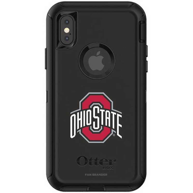 IPH-X-BK-DEF-OHS-D101: FB OB iPhone X and XS Ohio State