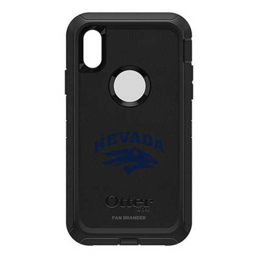 IPH-X-BK-DEF-UNR-D101: FB OB iPhone X and XS Nevada Wolf Pack