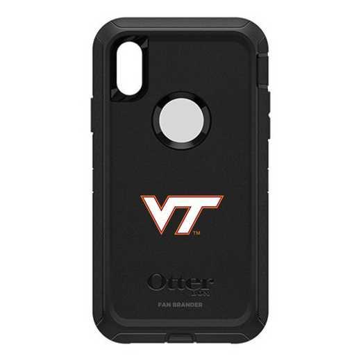 IPH-X-BK-DEF-VAT-D101: FB OB iPhone X and XS Virginia Tech