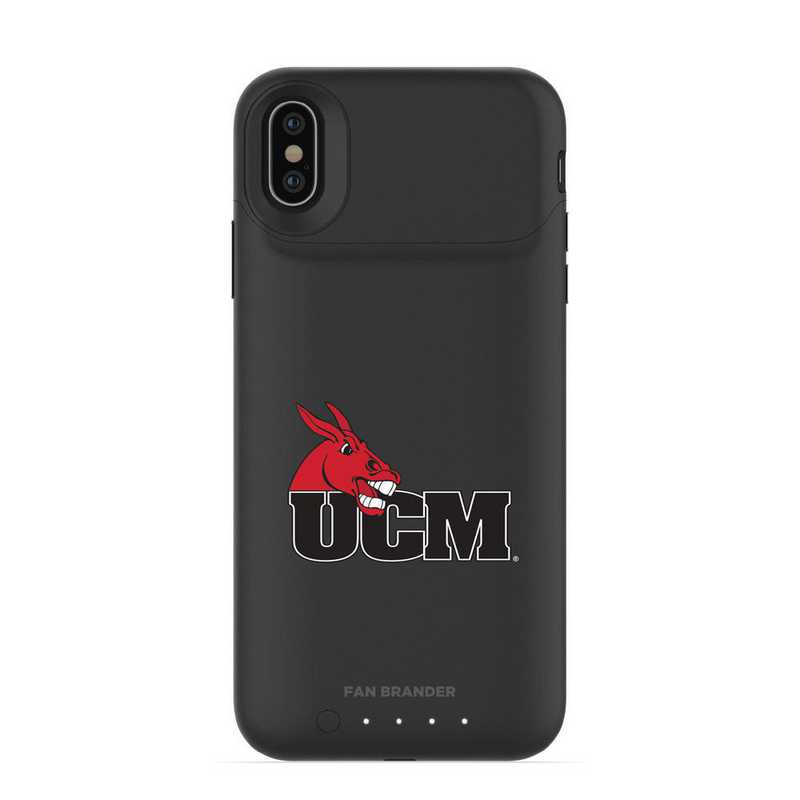 IPH-X-BK-JPA-CMIZ-D101: FB Central Missouri Mules mophie iPhone X and XS