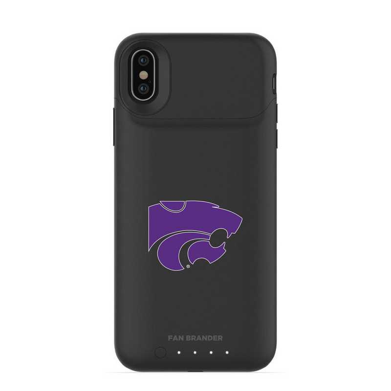 IPH-X-BK-JPA-KST-D101: FB Kansas State Wildcats mophie iPhone X and XS