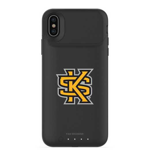 IPH-X-BK-JPA-KSUA-D101: FB Kennesaw State Owls mophie iPhone X and XS