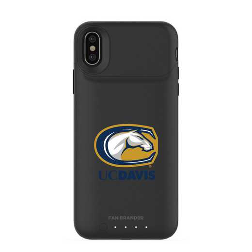 IPH-X-BK-JPA-UCD-D101: FB UC Davis Aggies mophie iPhone X and XS