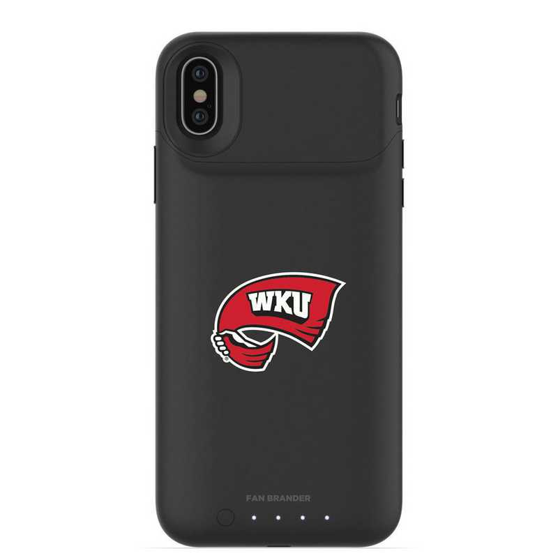 IPH-X-BK-JPA-WKU-D101: FB Western Kentucky Hilltoppers mophie iPhone X and XS