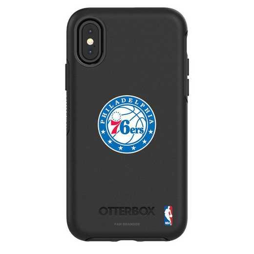 IPH-X-BK-SYM-76S-D101: BL Philadelphia 76ers OtterBox iPhone X/Xs Symmetry