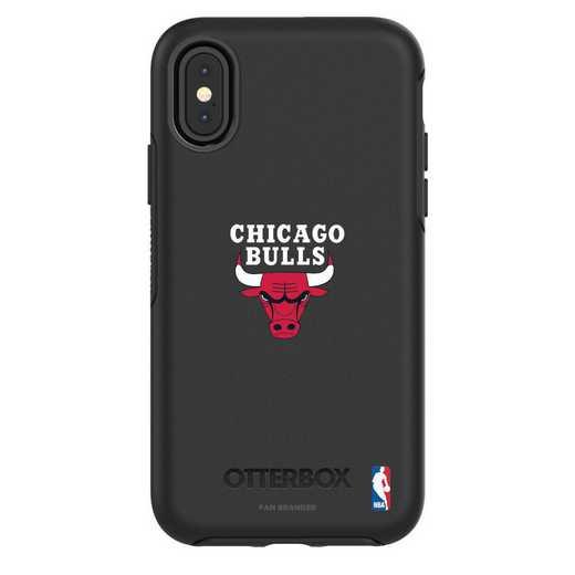 IPH-X-BK-SYM-CHBL-D101: BL Chicago Bulls OtterBox iPhone X/Xs Symmetry