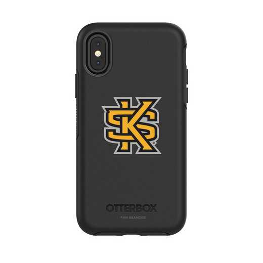 IPH-X-BK-SYM-KSUA-D101: FB OB iPhone X and XS Kennesaw State