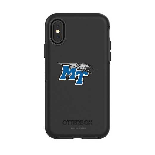 IPH-X-BK-SYM-MTN-D101: FB OB iPhone X and XS Middle Tennessee State