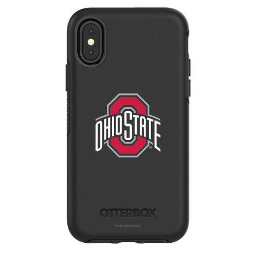IPH-X-BK-SYM-OHS-D101: FB OB iPhone X and XS Ohio State