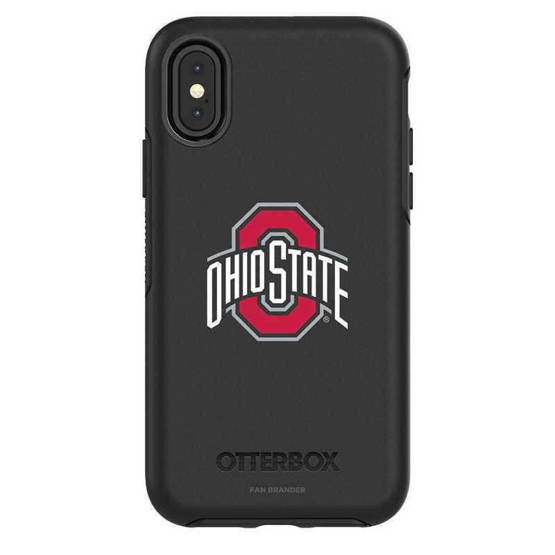 IPH-X-BK-SYM-OHS-D101: FB OB iPhone X and XS Ohio State