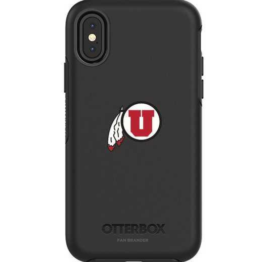 IPH-X-BK-SYM-UT-D101: FB OB iPhone X and XS Utah