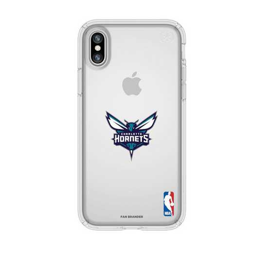 IPH-X-CL-PRE-CHH-D101: BL Speck Presido iPhone X/XS Clear, Charlotte Hornets