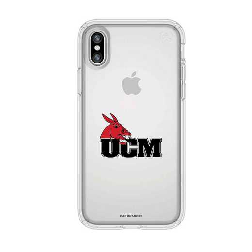 IPH-X-CL-PRE-CMIZ-D101: Central Missouri Mules Speck iPhone X/Xs Presidio Clear