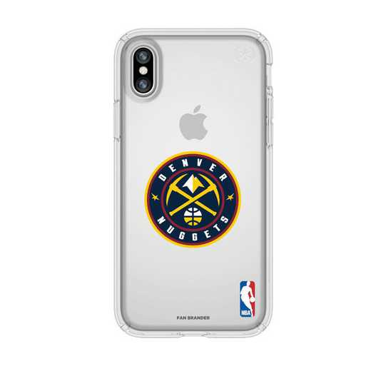 IPH-X-CL-PRE-DNT-D101: BL Speck Presido iPhone X/XS Clear, Denver Nuggets