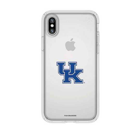 IPH-X-CL-PRE-KY-D101: Kentucky Wildcats Speck iPhone X/Xs Presidio Clear