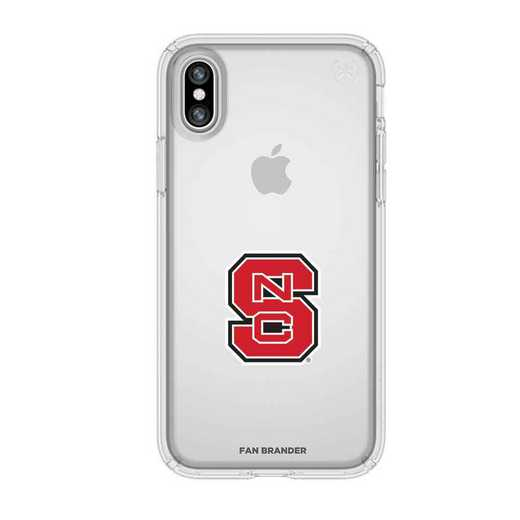IPH-X-CL-PRE-NCS-D101: NC State Wolfpack Speck iPhone X/Xs Presidio Clear