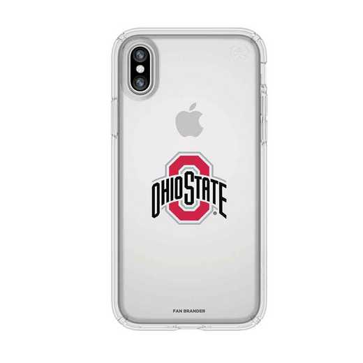 IPH-X-CL-PRE-OHS-D101: Ohio State Buckeyes Speck iPhone X/Xs Presidio Clear