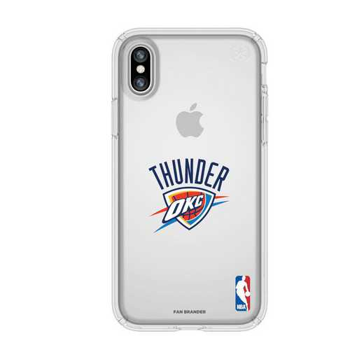 IPH-X-CL-PRE-OKT-D101: BL Speck Presido iPhone X/XS Clear, Oklahoma City Thunder