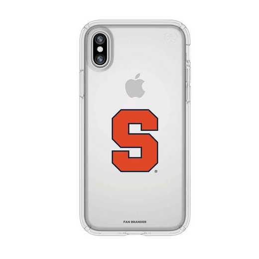 IPH-X-CL-PRE-SYU-D101: Syracuse Orange Speck iPhone X/Xs Presidio Clear