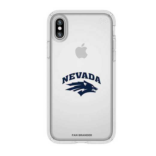 IPH-X-CL-PRE-UNR-D101: Nevada Wolf Pack Speck iPhone X/Xs Presidio Clear