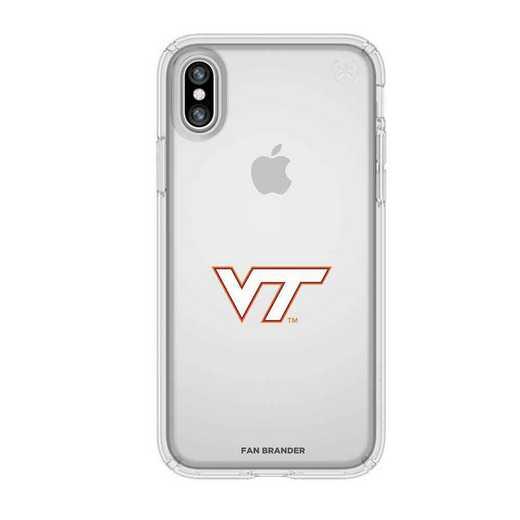 IPH-X-CL-PRE-VAT-D101: Virginia Tech Hokies Speck iPhone X/Xs Presidio Clear