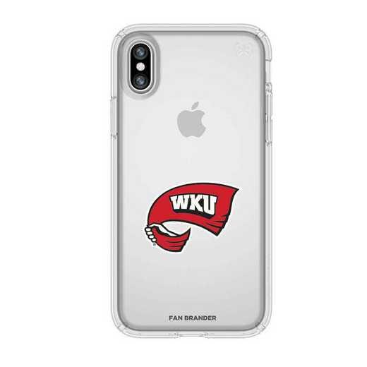 IPH-X-CL-PRE-WKU-D101: Western Kentucky  Speck iPhone X/Xs Presidio Clear