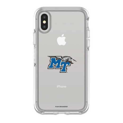 IPH-X-CL-SYM-MTN-D101: FB OB iPhone X and XS Middle Tennessee State