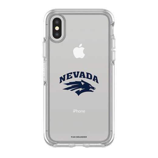 IPH-X-CL-SYM-UNR-D101: FB OB iPhone X and XS Nevada Wolf Pack